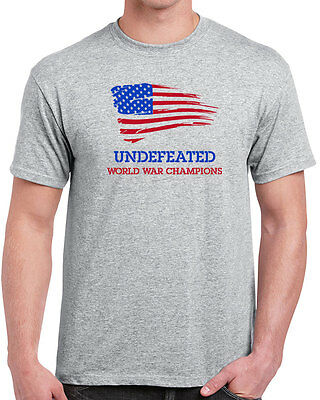 0a75bf8b 197 Undefeated World War Champs mens T-shirt america funny pride All  Sizes/Color