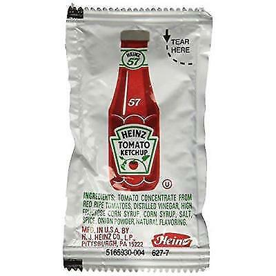 Heinz Ketchup Packet - 200 Case New