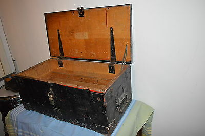 Antique Tool Chest With Handles, Great For Stripping, Shabby Chic Table Etc