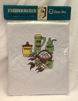 Dora May Embroidered Automatic Coffee Maker Appliance Cover Vintage