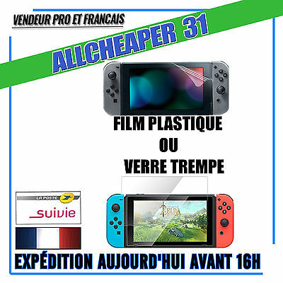 Verre trempé nintendo switch 9h authentique ou film plastique de protection lcd