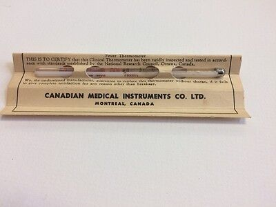 Vintage Cmi Fever Therometer With Oirginal Box  Made In Canada