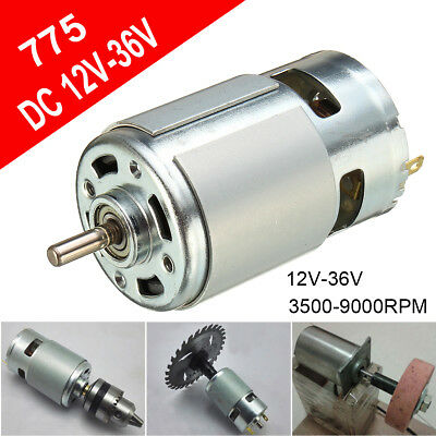 775 12V-24V DC 3500-9000RPM Motor Ball Bearing Large Torque High Power Low Noise