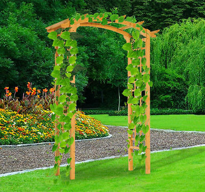 7.5FT Outdoor Garden Arch Arbor Trellis Wooden Wedding Gateway Lawn Yard  Decor
