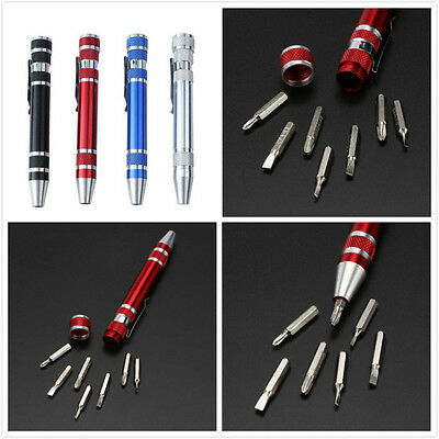 8 in1 Precision Pen Mini Micro Screwdriver Pocket Repair Tool Set for PC Phone