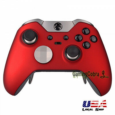 Front Shell Faceplate Cover Repair for Xbox One Elite Controller Soft Touch Red