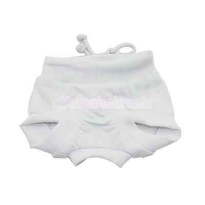 Femme Pet Dog Puppy Facile Physiologique Diaper Panty Underwear White S