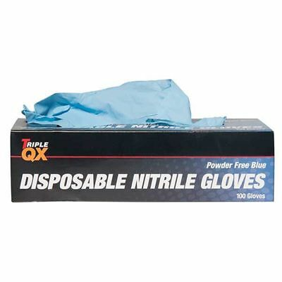 Triple QX 543772110 Nitrile Work Gloves 100 Pieces XL Powder Free Non Handed