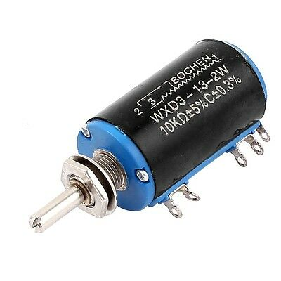 WXD3-13-2W 10K Ohm 5% Tolerance Multi Turn Rotary Wire Wound Potentiometer - UK