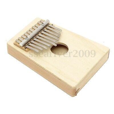 10 Keys Kalimba Mbira Finger Thumb Pocket Piano Traditional Musical Instrument