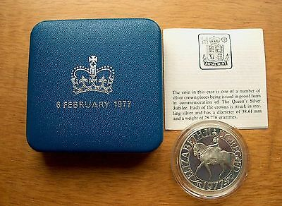 British - 1977 Silver Proof Crown - Silver Jubilee  Boxed with certificate