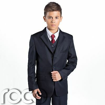 Boys Navy Suit, Page Boy Suits, Prom Suits, Boys Wedding Suit, Communion Suit