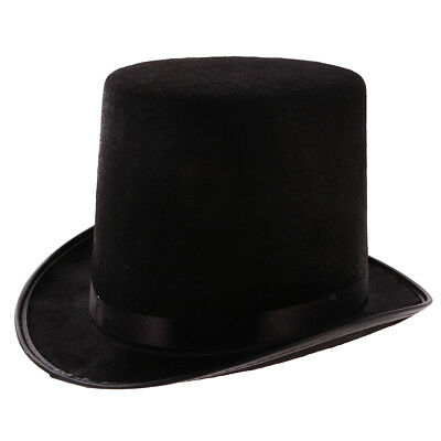 Top Hat Tuxedo Formal Satin Silk Black Magician