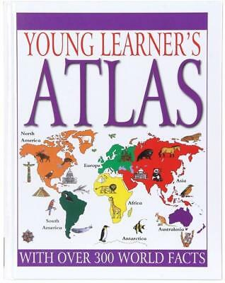 Young Learner's Hardcover Atlas - Childrens Maps World Facts Book