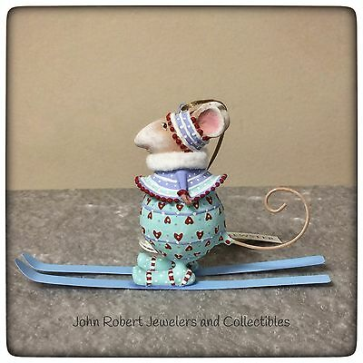 Patience Brewster Krinkles Dashaway Stirring Mouse Skiing Girl Ornament
