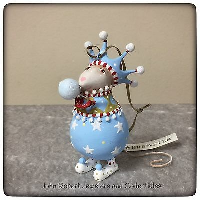 Patience Brewster Krinkles Dashaway Stirring Mouse Snowball Boy Ornament