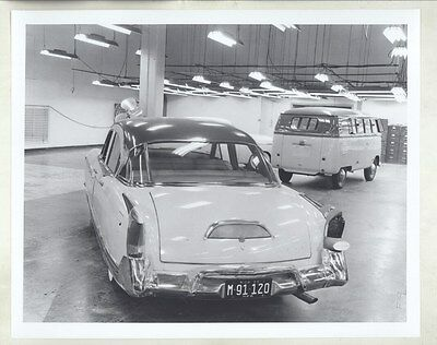 1954 1955 Kaiser Manhattan Prototype & VW Bus ORIGINAL Factory Photograph ww8043