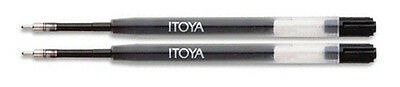 Itoya Gel Pen Refills Black - 2 Pack Fine Point
