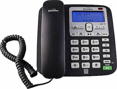 Binatone Acura Corded Telephone with Answer Machine Single - Black -From Argos