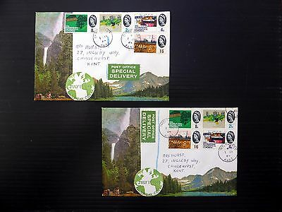 GB 1964 Geographical (4) on Connoisseur Special Delivery with SEE BELOW NB327