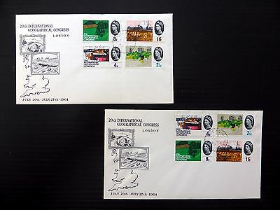 GB 1964 Geographical (4) on Souvenir FDC with Chislehurst CDS SEE BELOW NB328