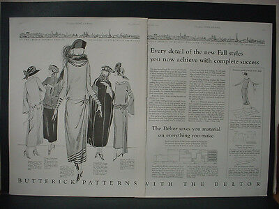 1922 Butterick Patterns with the Deltor Big Fashion Vintage Print Ad 12099