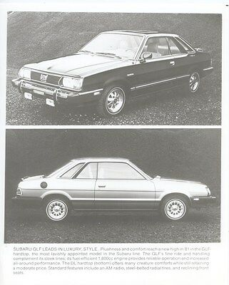 1981 Subaru GLF ORIGINAL Factory Photo oub4863