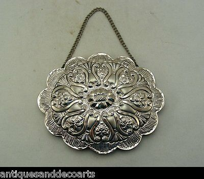 Turkish Silver BULU 900 Wedding Mirror with Embossed or Repousse Decoration