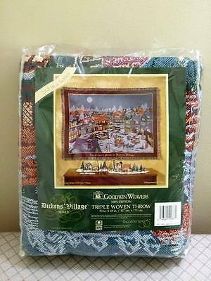 DICKENS VILLAGE Dept 56 THROW Tapestry Goodwin Weavers 2nd Series Vintage NEW