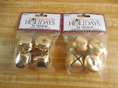"New GOLD JINGLE BELLS 1 1/2"" (35mm) GLOSS or MATTE ~ DIY Crafts ~ Christmas"
