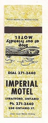 Imperial Motel 988 Ontario St. Stratford ON Matchcover 032517