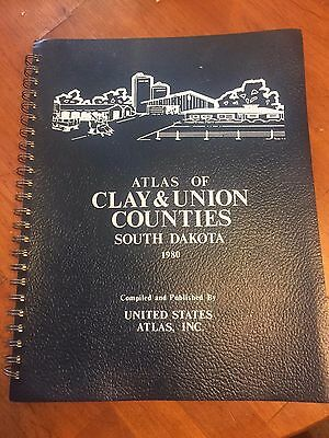 Atlas of Clay & Union Counties South Dakota 1980
