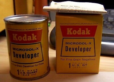 Kodak Microdol-X Developer Film Developer Metal Can/Original Box ~ Quart