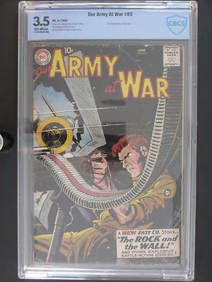 Our Army At War #83 - CBCS 3.5 VG- DC 1959 - 1st App Sgt. Rock - Kubert/Kanigher