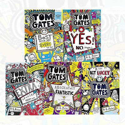 Tom Gates Series By Liz Pichon 5 Books Collection Set Pack Best Book Day Ever!