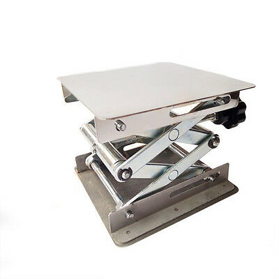 "8X8""Lab-Lift Stainless Steel Lab Lifting Platform Stand Rack Scissor Lifter"