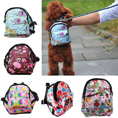 Vogue Pet Bag Backpack Outdoor Travel Carrier For Dog Puppy Cats With Leash New