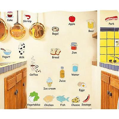 Bread Milk Vegetables Food Removable Kitchen Home Decor Wall Stickers PVC - CB