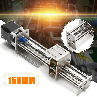 150mm Slide Stroke CNC Z Axis Linear Motion +Stepper Motor For Engraving Machine
