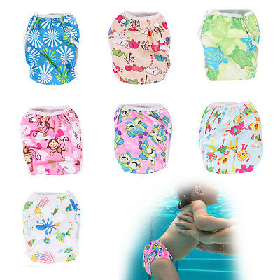 Adjuatable Reusable Swim Nappy Baby Cover Diaper Pants Nappies Swimmer Infant