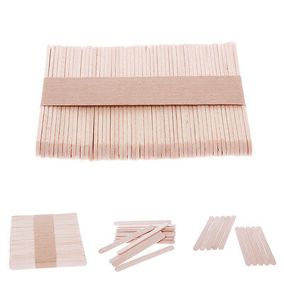 50/100 pcs Wooden Popsicle Stick Ice Cream Cake Lolly DIY HandiCraft Art Kid Toy