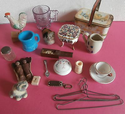 antique  lot  of accessories for antique dolls  doll house  toys decorations