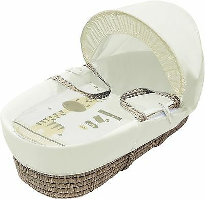 Kinder Valley Zoo Time Moses Basket with Mattress and Washable Bedding