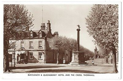 THORNHILL Buccleuch & Queensberry Hotel & the Cross, RP Postcard by Sykes