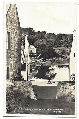 CRAMOND River Almond From the Steps, RP Postcard by Valentine, Unused