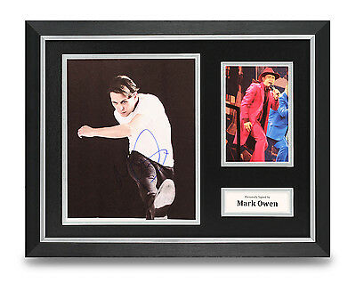 Mark Owen Signed Photo Framed 16x12 Display Take That Autograph Memorabilia COA