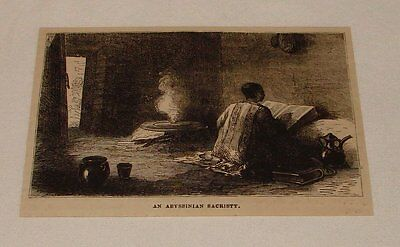 1880 magazine engraving ~ AN ABYSSINIAN SACRISTY, Abyssinia