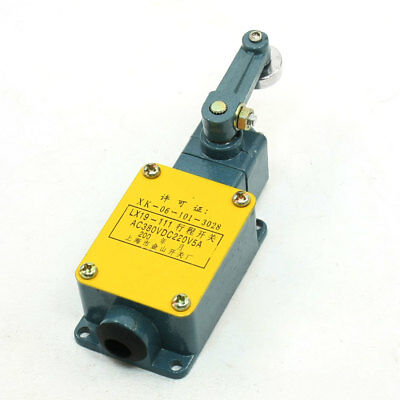 LX19-111 DC 220V 5A Roller Lever Arm Momentary Enclosed Limit Switch