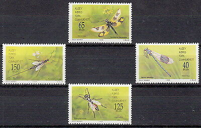 1998 CIPRO TURCA  Francobolli Insetti Insects Stamps  457-60 MNH**
