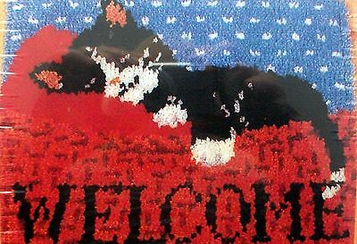 "Latch Hook Animal Rug  Kit  ""cat Nap Welcome"""